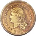 Proof Four Dollar Gold Pieces, 1879 $4 Flowing Hair, Judd-1635, Pollock-1833, R.3, XF Details -- Smoothed -- PCGS Genuine....