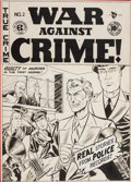 Original Comic Art:Covers, Johnny Craig War Against Crime! #2 Cover Original Art (EC,1948)....