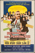 """Movie Posters:Comedy, The Remarkable Mr. Pennypacker & Other Lot (20th Century Fox, 1959). Posters (2) (40"""" X 60"""") Style Y & Z. Comedy.. ... (Total: 2 Items)"""