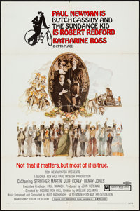 """Butch Cassidy and the Sundance Kid (20th Century Fox, 1969). One Sheet (27"""" X 41"""") Style A. Western"""