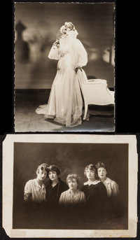 """Marion Davies (Late 1910s and Early 1930s). Trimmed Portrait Photo (10.25"""" X 13.25"""") & Photo (11"""" X 1..."""