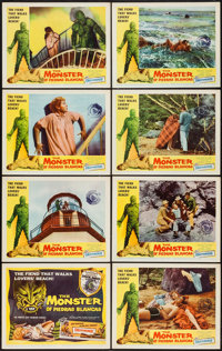 "The Monster of Piedras Blancas (Film Service Distributing, 1959). Lobby Card Set of 8 (11"" X 14""). Horror..."