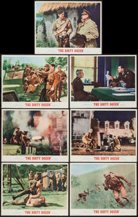 """The Dirty Dozen (MGM, 1967). Lobby Cards (7) (11"""" X 14""""). War. ... (Total: 7 Items)"""