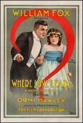 "Movie Posters:Drama, Where Love Leads (Fox, 1916). One Sheet (28.5"" X 42""). Drama.. ..."