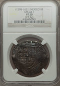 Mexico, Mexico: Philip III Cob 8 Reales ND (1598-1621) VF20 NGC,...