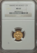 Mexico, Mexico: Republic gold 1/2 Escudo 1846 Mo-MF MS63 NGC,...
