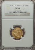 Colombia, Colombia: Charles III gold Escudo 1772 P-JS MS62 NGC,...