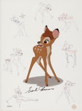 "Movie/TV Memorabilia:Original Art, A Frank Thomas Signed 'Disney Art Edition, Inc.' Animation Cellfrom ""Bambi,"" Circa 1990s...."