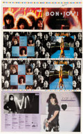 Music Memorabilia:Posters, Bon Jovi, Def Leppard, Joan Jett, Pat Benatar, John CougarMellencamp, Duran Duran, and Others: Original Full Album CoverPres...