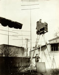 Books:Prints & Leaves, [Early Photography]. [George R. Lawrence]. Oversize Reprint Photograph of Early Photographer and Giant Camera. Reprinted fro...