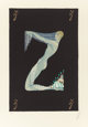 ERTÉ (ROMAIN DE TIRTOFF) (Russian/French, 1892-1990) Letter Z, from the Alphabet Suite, 1976 Screenprint in color...