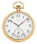 Timepieces:Pocket (post 1900), Longines 17 Jewel 14k Gold 12 Size Pocket Watch. ...
