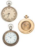 Timepieces:Pocket (post 1900), . A Lot Of Three Pocket Watches For Parts Or Repair. ... (Total: 3Pieces)