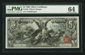 Large Size:Silver Certificates, Fr. 268 $5 1896 Silver Certificate PMG Choice Uncirculated 64.. ...