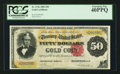 Large Size:Gold Certificates, Fr. 1196 $50 1882 Gold Certificate PCGS Extremely Fine 40PPQ.. ...