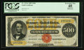 Large Size:Gold Certificates, Fr. 1216a $500 1882 Gold Certificate PCGS Apparent Extremely Fine40.. ...