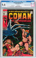 Bronze Age (1970-1979):Adventure, Conan the Barbarian #4 Don/Maggie Thompson Collection pedigree (Marvel, 1971) CGC NM 9.4 White pages....