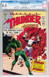 T.H.U.N.D.E.R. Agents #2 Don/Maggie Thompson Collection pedigree (Tower, 1966) CGC VF+ 8.5 White pages