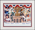 Baseball Collectibles:Photos, 1999 Hall of Fame Class Multi Signed Oversized Photograph....