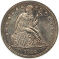 Seated Dollars, 1842 $1 -- Cleaned -- ANACS. AU55 Details. NGC Census: (90/154).PCGS Population (71/120). Mintage: 184,618. Numismedia Wsl...