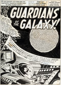 Original Comic Art:Splash Pages, Gene Colan and Mike Esposito Marvel Super-Heroes #18 Guardians of the Galaxy Splash Page 1 Original Art (Marvel, 1...