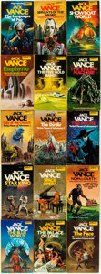 Books:Pulps, [Science-Fiction Paperbacks]. Jack Vance. Group of Fifteen DAWScience-Fiction Paperbacks. New York: DAW, [1970-80s]. Publis...(Total: 15 Items)