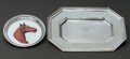 Silver Holloware, American:Trays, TWO AMERICAN SILVER TRAYS, Gorham Manufacturing Co., Providence, Rhode Island & Maker unidentified, circa 1929. Marks to oct... (Total: 2 Items)