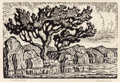 Prints, BIRGER SANDZÉN (American, 1871-1954). Sunshine Lake and Pond with Willows (pair). Linocut on paper. 6-1/2 x 9-1/2 in... (Total: 2 Items)