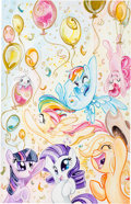 "Original Comic Art:Covers, Sara Richard My Little Pony #12, ""1 Million - Cover B"" Original Art Group (IDW, 2014).... (Total: 4 Original Art)"