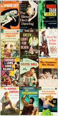 Books:Pulps, [Vintage Paperbacks]. Group of Twelve Vintage Dell Paperbacks. NewYork: Dell, [1950s]. Includes works by Treynor, Kane and ...(Total: 12 Items)