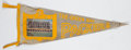Football Collectibles:Others, 1963 Green Bay Packers Team Photograph Pennant....