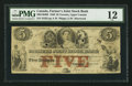 Canadian Currency: , Toronto, UC- The Farmer's Joint Stock Bank $5 Feb. 1, 1849 CH. #280-14-04-08. ...