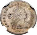 Early Half Dimes, 1801 H10C V-1, LM-2, R.4 -- Improperly Cleaned -- NGC Details.XF....