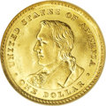 Commemorative Gold: , 1904 G$1 Lewis and Clark MS64 NGC. David Bowers (1991) notes thatmost examples of Lewis and Clark gold dollars show eviden...