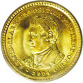 Commemorative Gold: , 1904 G$1 Lewis and Clark MS68 PCGS. Ex: Swiss America/Dr. Merritt.An Act of Congress dated April 13, 1904 called for an ex...