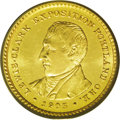 Commemorative Gold: , 1905 G$1 Lewis and Clark MS63 PCGS. Lustrous light yellow-goldsurfaces have only a few minor abrasions and faint scratches...