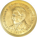 Commemorative Gold: , 1905 G$1 Lewis and Clark MS64 PCGS. Rich orange and steel-bluetoning grace this lustrous and suitably struck near-Gem. The...