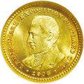 Commemorative Gold: , 1905 G$1 Lewis and Clark MS67 NGC. Ex: Swiss America/Dr. Merritt.Fully struck with scintillating cartwheel luster in the f...