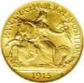 Commemorative Gold: , 1915-S $2 1/2 Panama-Pacific Quarter Eagle MS64 NGC. An appealingyellow-gold example that comes very well struck with an a...