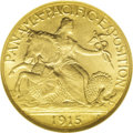 Commemorative Gold: , 1915-S $2 1/2 Panama-Pacific Quarter Eagle MS65 NGC. Thisaesthetically pleasing Gem is also technically sound. Honey-gold...