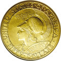 Commemorative Gold: , 1915-S $50 Panama-Pacific 50 Dollar Round MS65 NGC. Ex: SwissAmerica/Dr. Merritt. The Mint Act of January 16, 1915 authori...