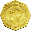 Commemorative Gold: , 1915-S $50 Panama-Pacific 50 Dollar Octagonal MS63 NGC. Struck onthe eve of America's involvement in the First World War, ...