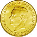 Commemorative Gold: , 1916 G$1 McKinley MS65 PCGS. A shimmering example with a hint ofgreen-gold color. Exceptionally clean surfaces with superi...