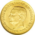 Commemorative Gold: , 1917 G$1 McKinley MS64 NGC. A satiny and lustrous near-Gem examplewith lovely yellow-gold color and splendid surfaces. Onl...