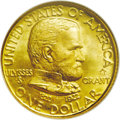 Commemorative Gold: , 1922 G$1 Grant with Star MS68 NGC. Ex: Swiss America/Dr. Merritt.Well struck, highly lustrous, and seemingly pristine, wit...