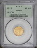 Commemorative Gold: , 1926 $2 1/2 Sesquicentennial MS64 PCGS. A satiny near-Gemrepresentative with uniform golden coloration and only the mosti...