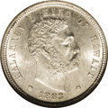 Coins of Hawaii: , 1883 10C Hawaii Ten Cents MS64 NGC. Untoned with shimmering, frostyluster and razor sharp detail in all areas, including t...
