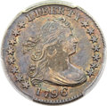 Early Dimes, 1796 10C JR-2, R.4, AU55 PCGS....