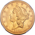 Liberty Double Eagles, 1861-S $20 Paquet XF45 NGC....