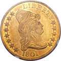 Early Eagles, 1801 $10 MS63 NGC. BD-2, R.2....